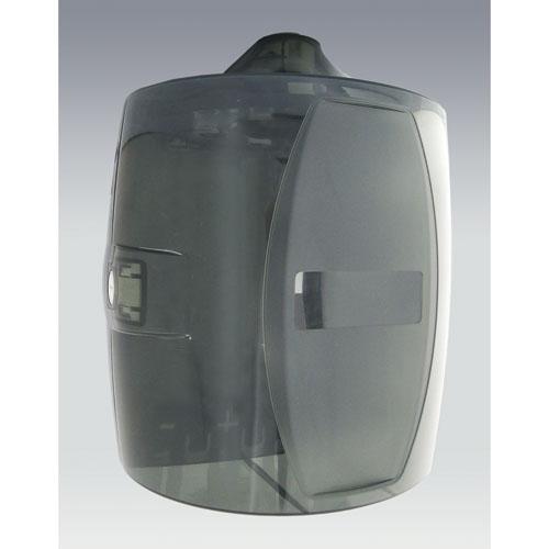 Contemporary Wall Mount Dispenser, Smoke Gray