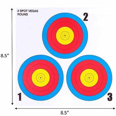 .30-06 3 Spot Vegas Mini Paper Target 100 Count