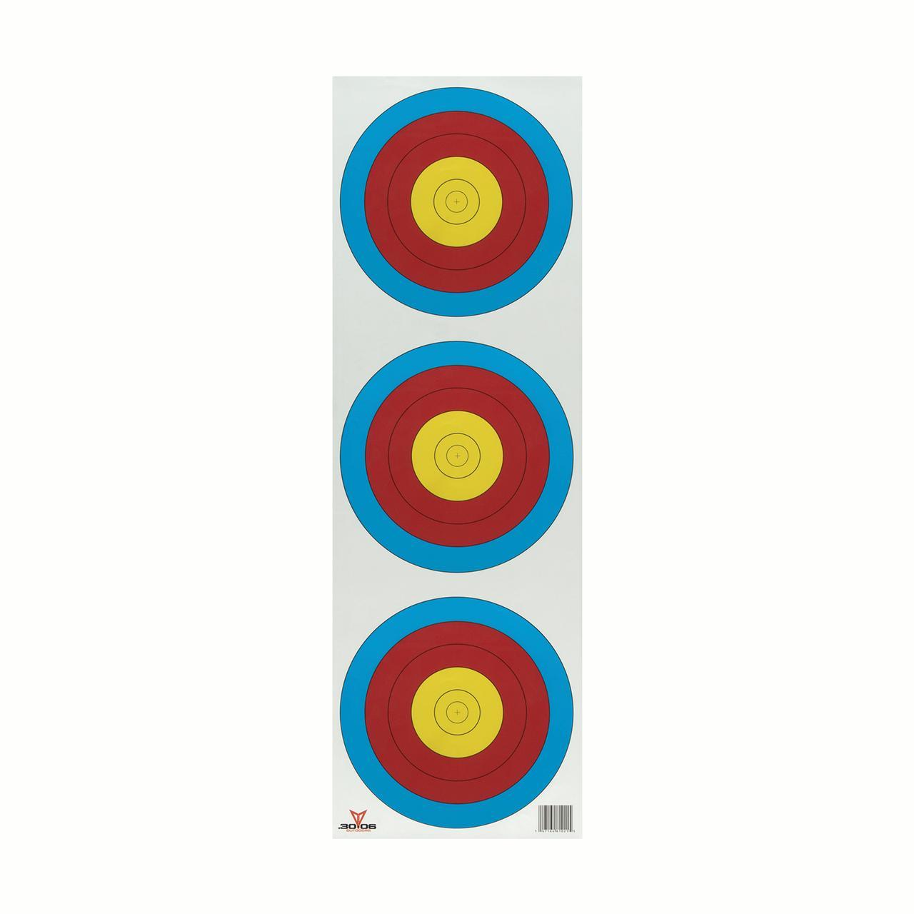 .30-06 Outdoors Vertical 3 Spot Paper Target 100ct