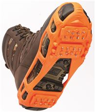 STABILICERS� WALK ICE TRACTION GEAR, STRETCH ON, ORANGE, LARGE