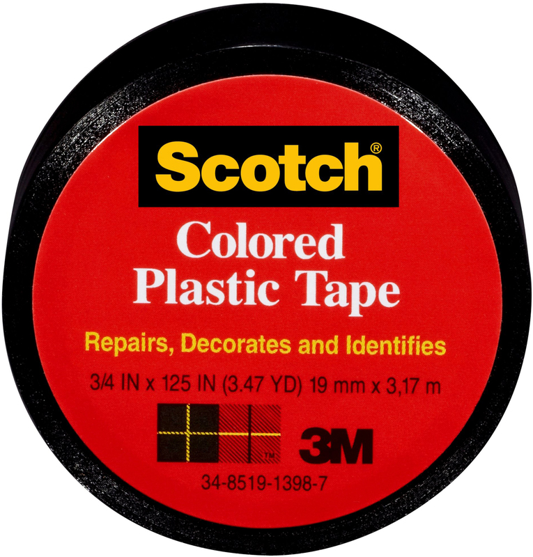 190A SCOTCH BLACK PLASTIC TAPE