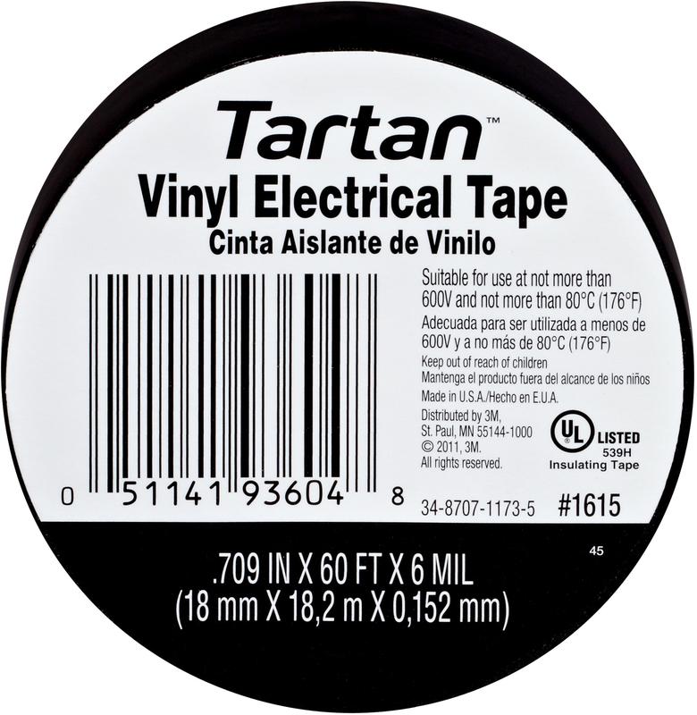 1615 .709X60 FT. VINYL ELECT TAPE