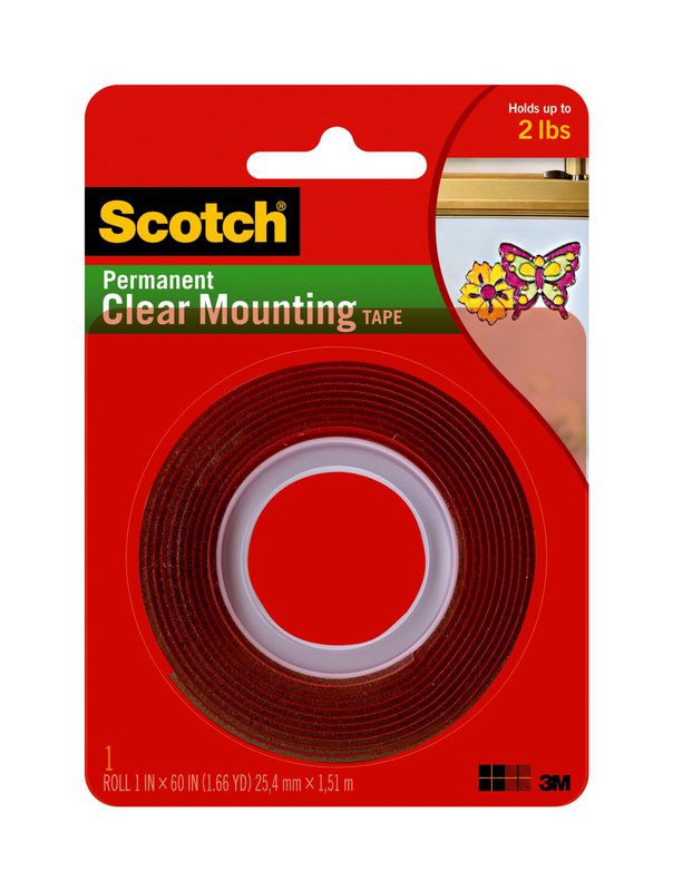 4010 1X60 In. Heavy Duty Clear Tape