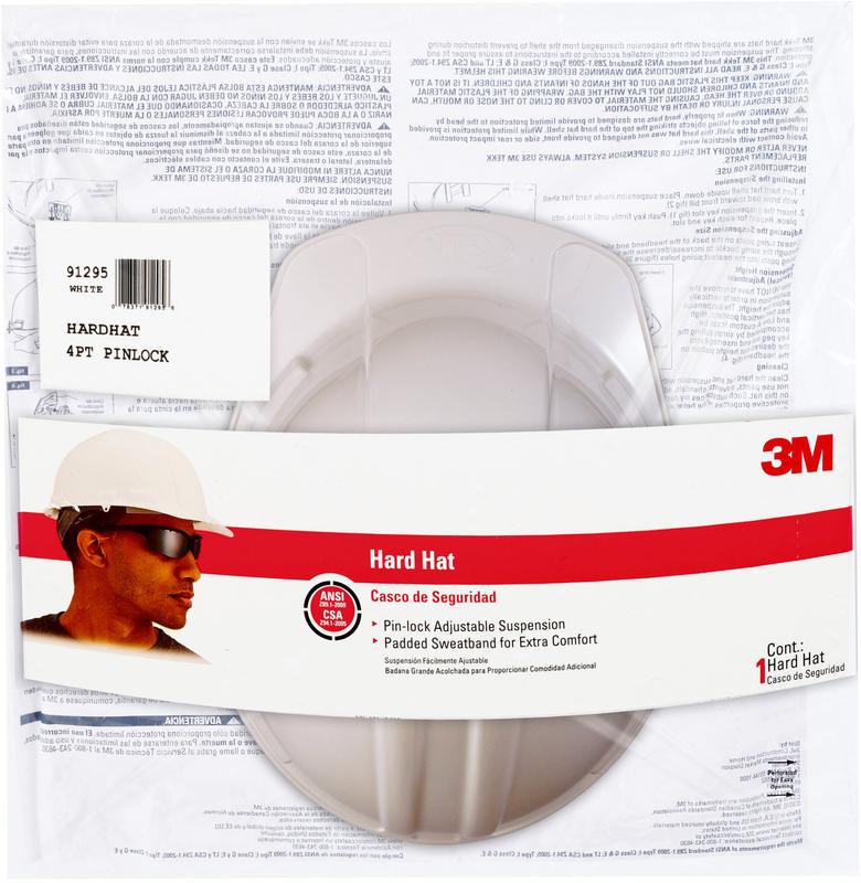 CHH-P-W12 WHT PIN LOK HARD HAT