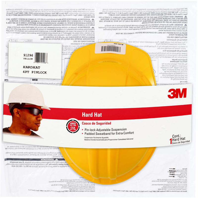 CHH-P-Y12 YEL PIN LOK HARD HAT
