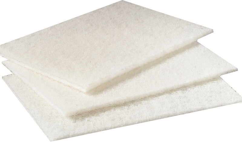"""6 x 9"""" WHITE LIGHT DUTY CLEANSING PAD"""