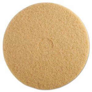 "Ultra High-Speed Floor Burnishing Pads 3400, 20"" Diameter, Tan, 5/Carton"