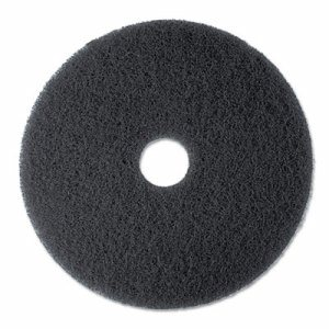"High Productivity Floor Pad 7300, 19"" Diameter, Black, 5/Carton"