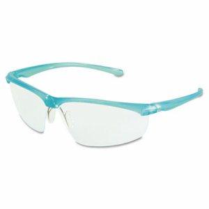 Refine 201 Safety Glasses, Half-frame, Clear AntiFog Lens, Black Checkered Frame