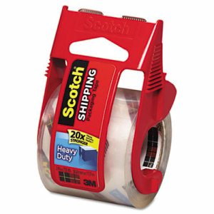 "3850 Heavy-Duty Packaging Tape in Sure Start Disp. 1.88"" x 800"", Clear"