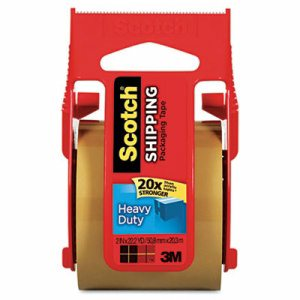 "3850 Heavy-Duty Packaging Tape in Sure Start Disp., 1.88"" x 800"", Tan"