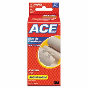 """Elastic Bandage with E-Z Clips, 4"""" x 64"""""""
