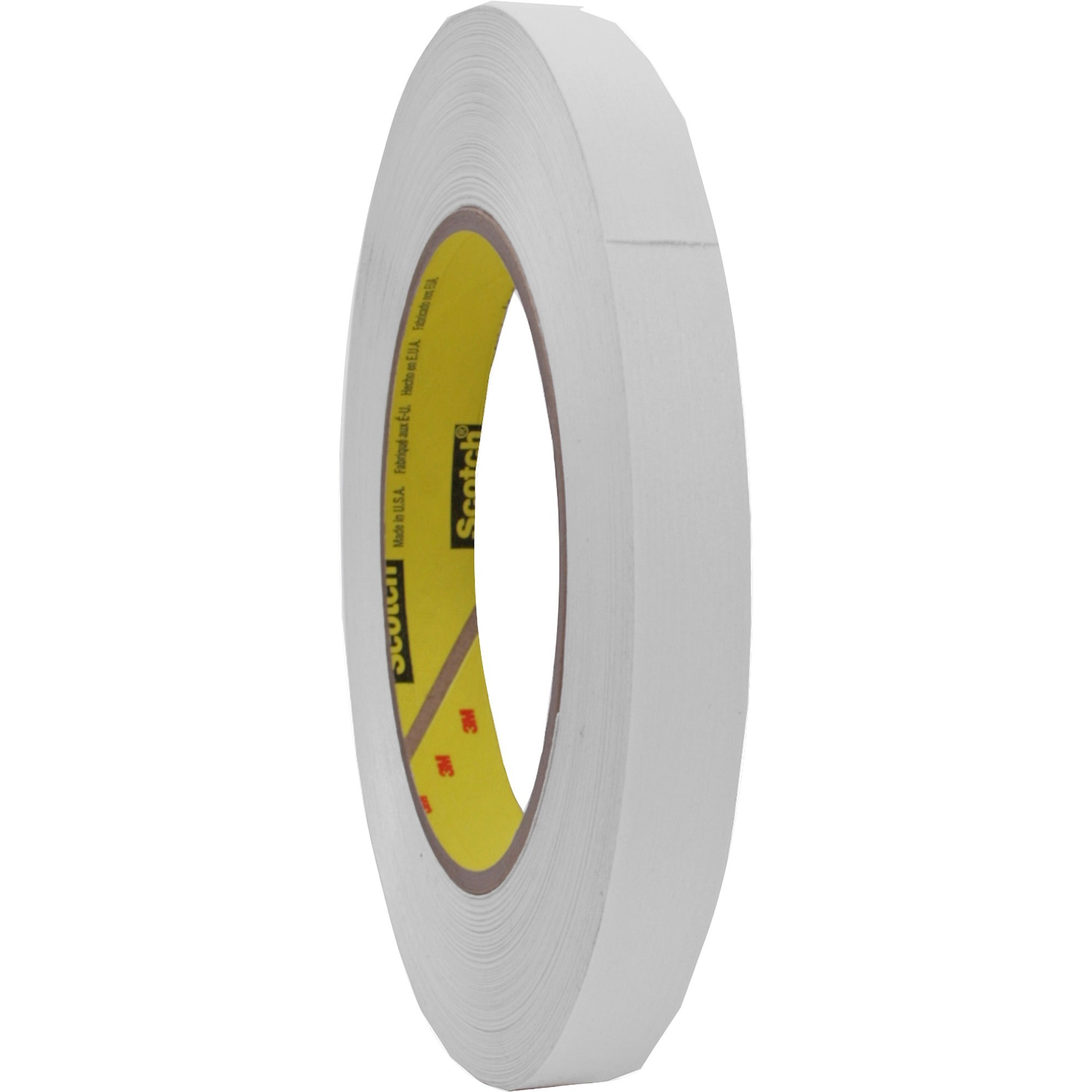 "256 Printable Flatback Paper Tape, 1/2"" x 60yds, 3"" Core, White"