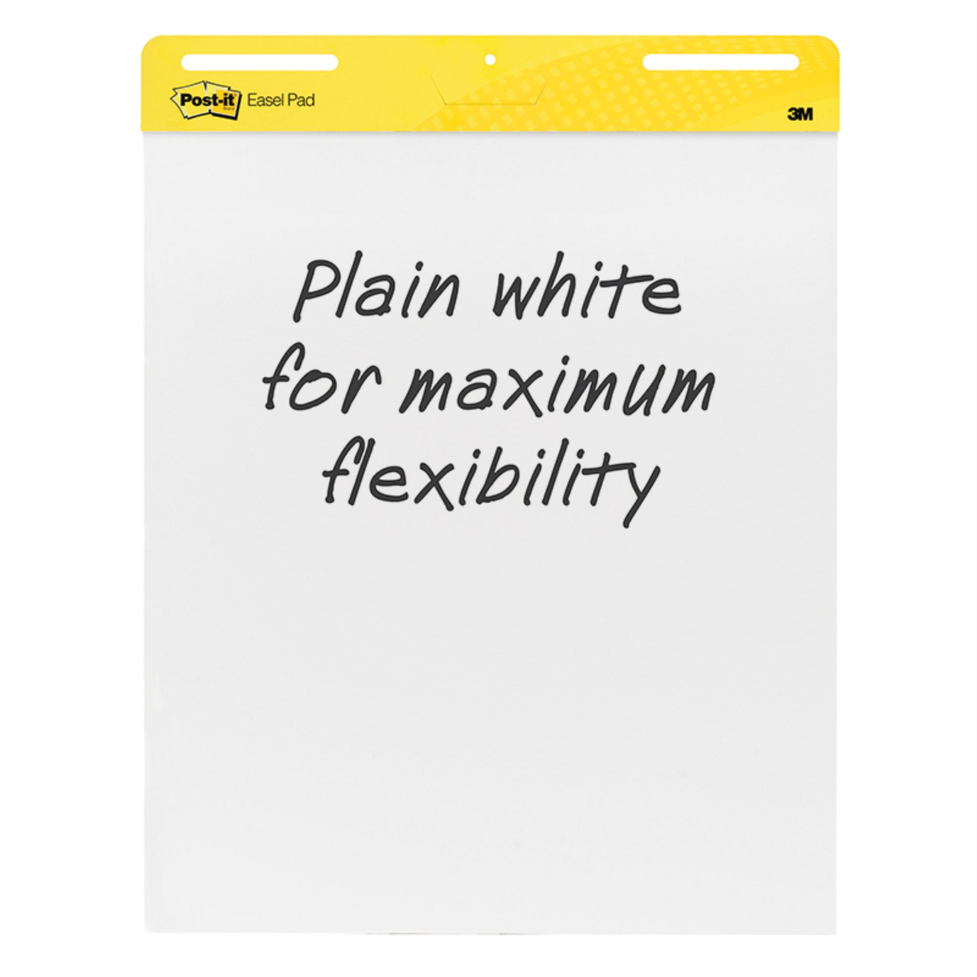 Self Stick Easel Pads, 25 x 30, White, 2 30 Sheet Pads/Carton