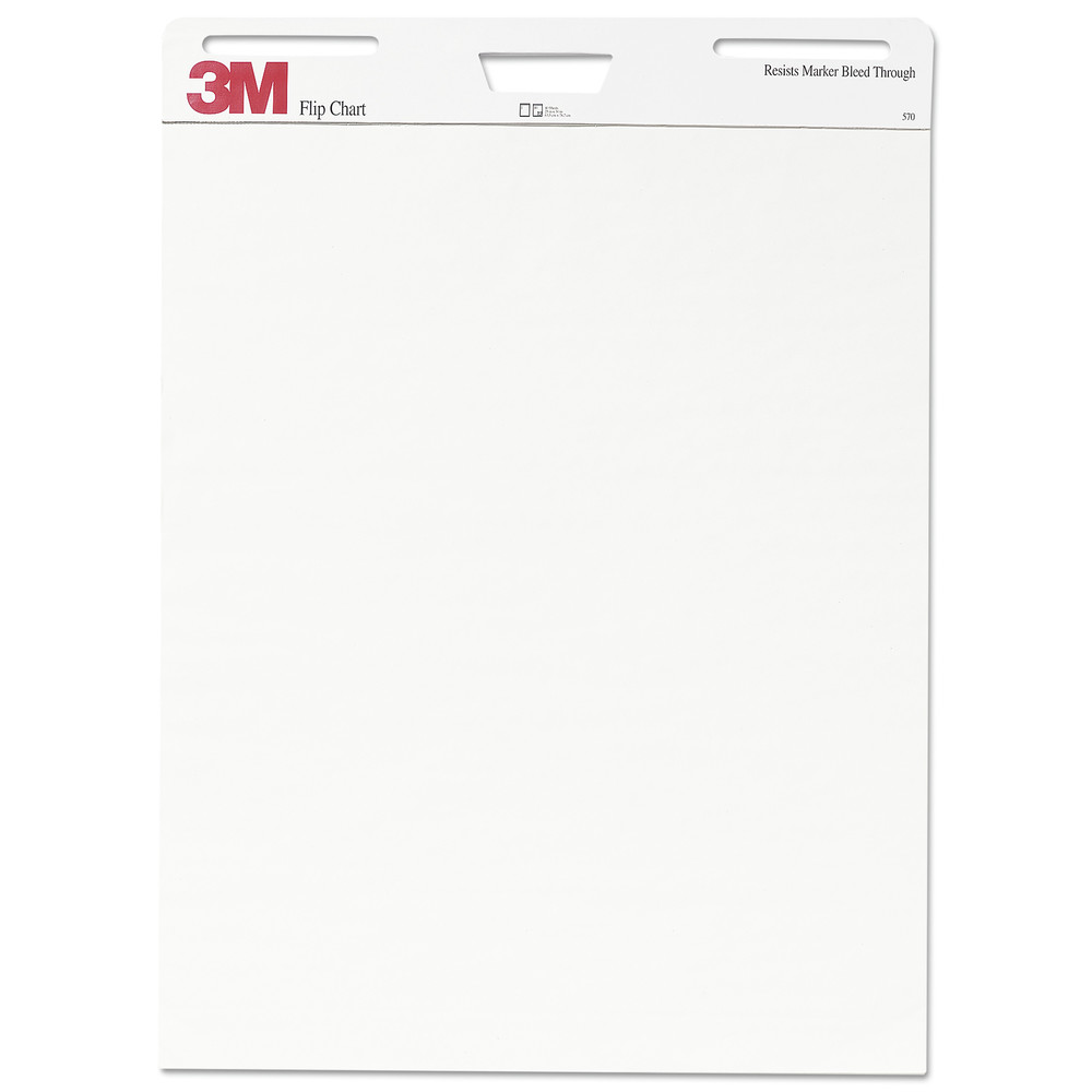 Professional Flip Chart Pad, Unruled, 25 x 30, White, 40 Sheets, 2/Carton
