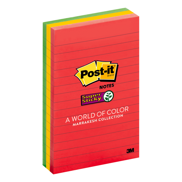 Pads in Marrakesh Colors, Lined, 4 x 6, 90-Sheet, 3/Pack