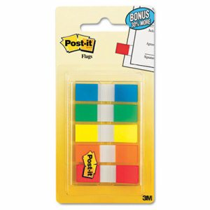 Page Flags in Portable Dispenser, 5 Standard Colors, 20 Flags/Color