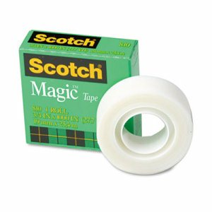 "Magic Tape Refill, 3/4"" x 1000"", 1"" Core, Clear"