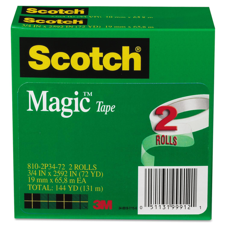"""Magic Tape, 3/4"""" x 2592"""", 3"""" Core, 2/Pack"""