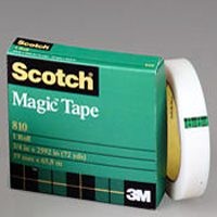 "Magic Tape, 3/4"" x 1296"", 1"" Core, Clear"