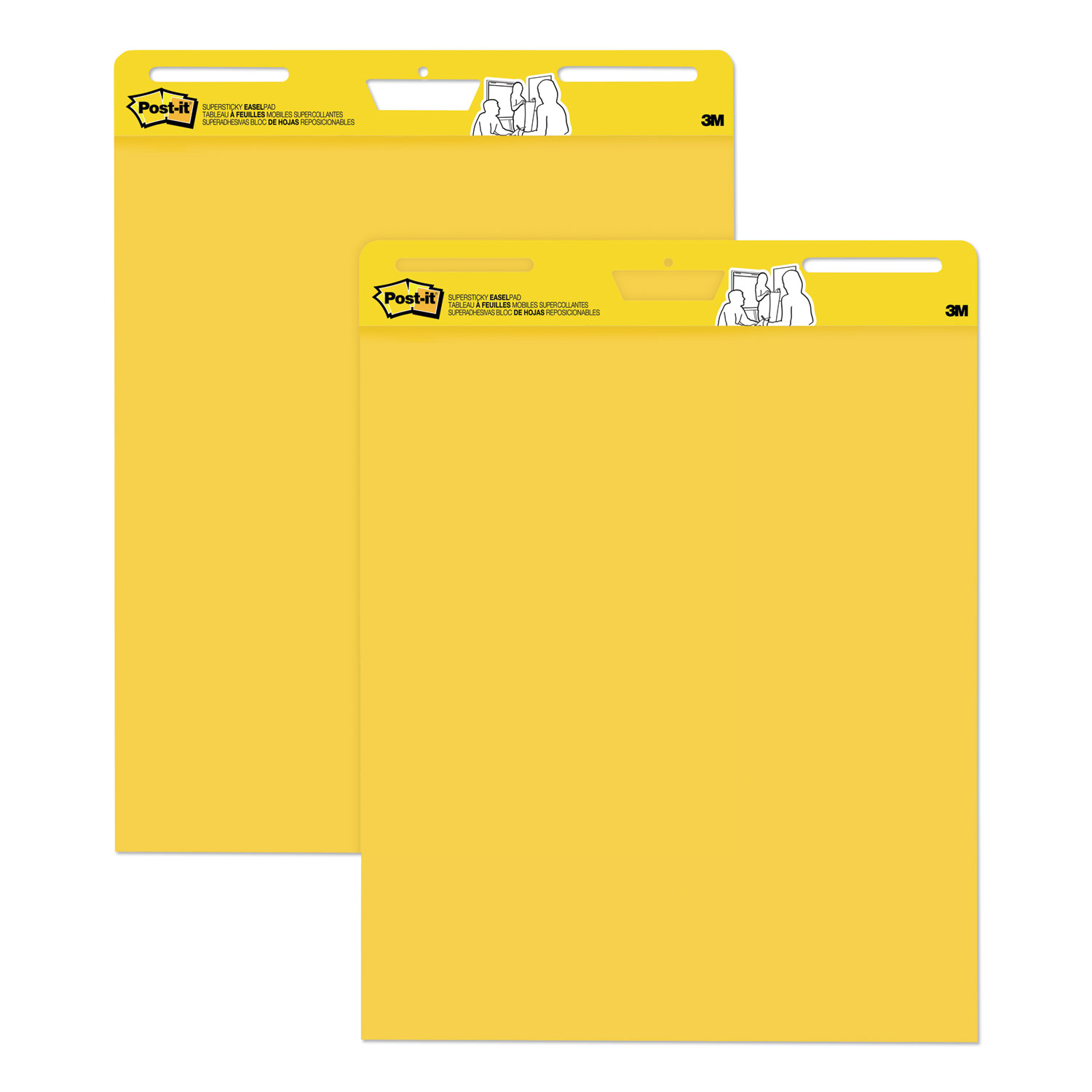 Self Stick Easel Pads, 25 x 30, Yellow, 30 Sheets, 2 Pads/Pack