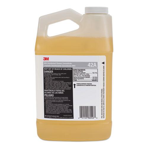 MBS Disinfectant Cleaner Concentrate, 0.5 gal Bottle, Unscented, 4/Carton