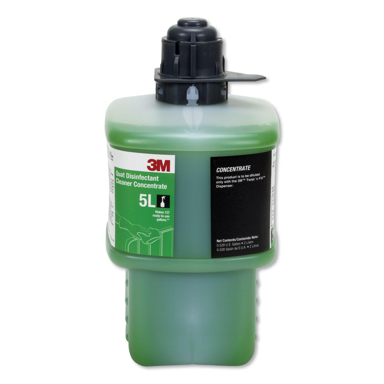 Quat Disinfectant Cleaner Concentrate, Fresh Scent, 0.53 gal Bottle, 6/Carton