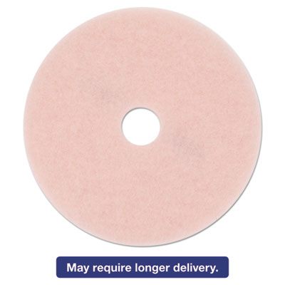 "Ultra High-Speed Eraser Floor Burnishing Pad 3600, 27"" Diameter, Pink, 5/Carton"