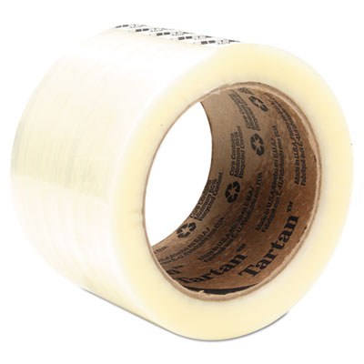 "369 Packaging Tape, 72 mm x 100 m, 3"" Core, Clear, 24/Carton"