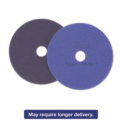 """Diamond Floor Pads, 17"""" Diameter, Purple, 5/Carton"""