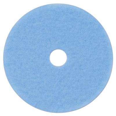 "Hi-Performance Burnish Pad 3050, 21"" Diameter, Sky Blue, 5/Carton"