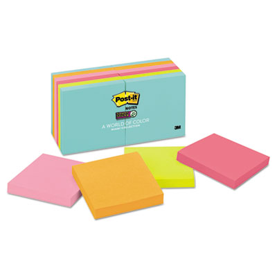 Pads in Miami Colors, 3 x 3, 90/Pad, 12 Pads/Pack
