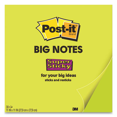 Big Notes, 11 x 11, Green, 30 Sheets