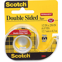 TAPE DOUBLE STICK 1/2X250IN