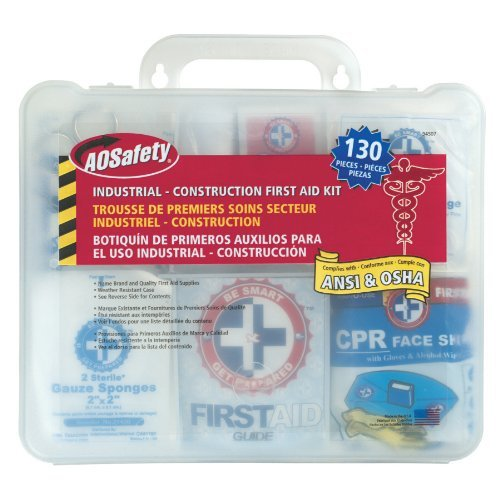 3M 94118-80025T First Aid Kit, 118 Pieces, 11 in W X 5-1/2 in L X 9-1/2 in H, Plastic