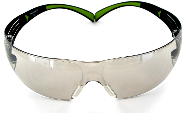3M SF400M-WV-6 Safety Glasses, Indoor, Mirror Lens