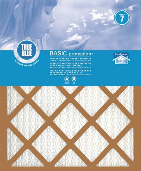 Protect Plus 218301 Pleated Air Filter, 30 in L x 18 in W x 1 in T