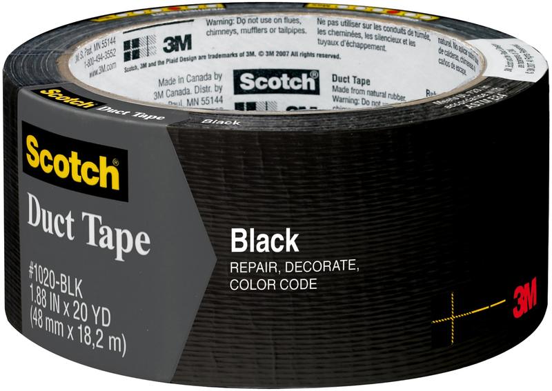TAPE DUCT BLACK 1.88INX20YD