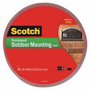 Scotch 4011-LONG Heavy Duty Mounting Tape, 1 in W X 60 in L X 0.045 in T, Gray