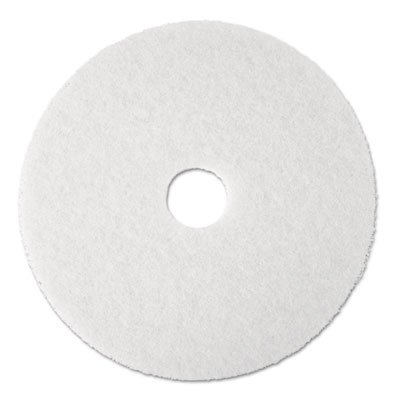 Scotch-Brite 08484 Floor Machine Pad, For Use With Standard Floor Machines, 20 in Dia, Polyester Fiber, White
