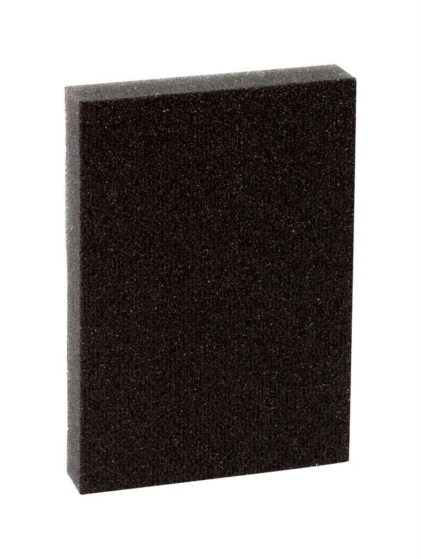 Pro-Pad 7057 Sanding Sponge, 4 in L x 2-7/8 in W, 1/2 in T, 60 Grit, Black