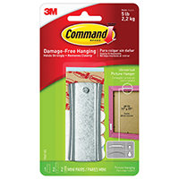 3M 17047ES Command Picture Hangers, Universal