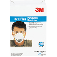 3M Tekk Protection Disposable, Extended Particulate Respirator, N95, 95 %, Cotton
