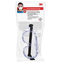 3M 91252-80024 Chemical Splash/Impact Goggle, Clear Polycarbonate Lens