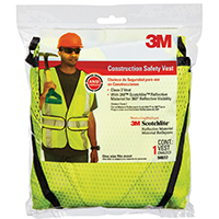 Tekk Protection 94617 Adjustable Class 2 Reflective Safety Vest, One Size Fits All, Fabric