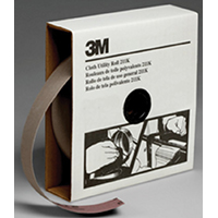 3M 05026 Sanding Roll, 50 yd L x 1-1/2 in W, 180, Very Fine, Aluminum Oxide, J-Weight Cloth, Closed Coat