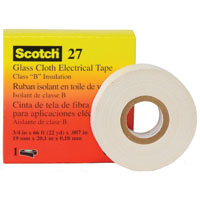 Scotch 27 Printable Electrical Tape, 1/2 in W X 66 ft L, 7 mil T, Thermosetable Rubber Resin, White