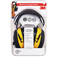 3M Tekk Protection Digital Worktunes 90541 Fully Adjustable Reusable Ear Muff, 22 dB, Black/Yellow