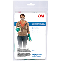 Tekk Protection 900 Reusable Protective Gloves, Large, Natural Rubber, Cotton Flocked Lining
