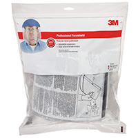 Tekk Protection 90028-80025T Professional Faceshield Polycarbonate Visor, Thermoplastic, Clear/Blue Cap